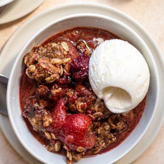 Gluten Free Berry Crisp | With Fresh or Frozen Berries