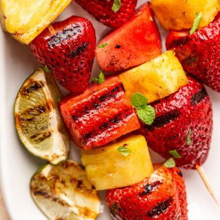 Grilled Fruit Kabobs with Sweet & Spicy Glaze