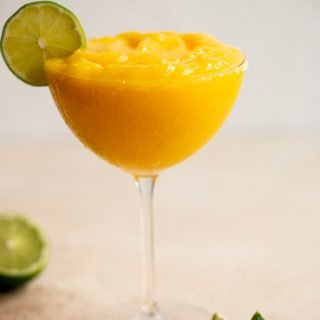 Healthy Frozen Mango Margarita Mocktail