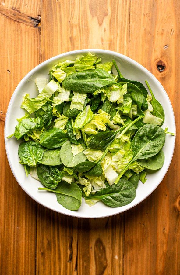 lettuce in a white bowl