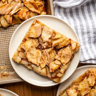 Easy Apple Pie Bars with Cinnamon Vanilla Glaze | Simple Slab Pie Recipe