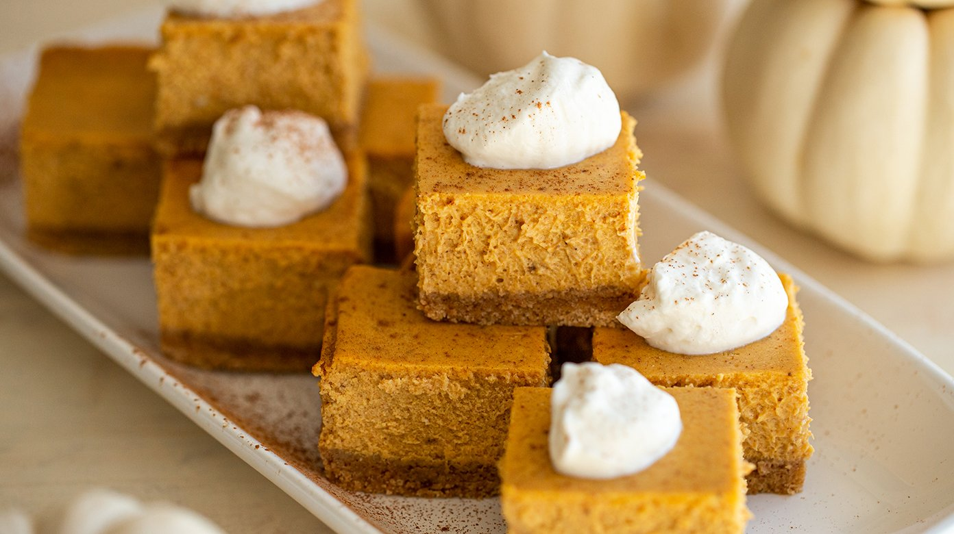 Pumpkin Cheesecake Bars The Best Harvest Dessert