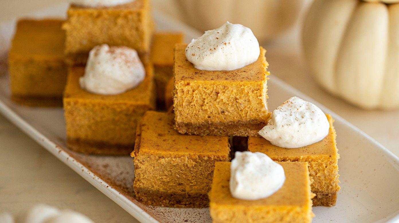 Pumpkin Cheesecake Bars The Best Harvest Dessert